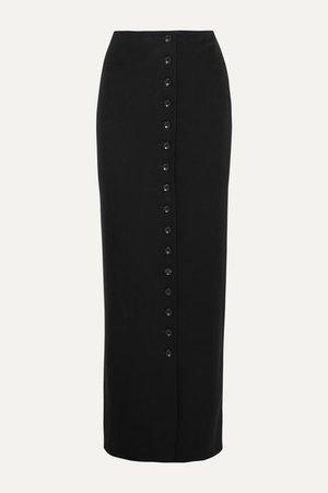 Alaïa | Pleated wool-crepe maxi skirt | NET-A-PORTER.COM
