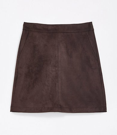 Faux Suede Shift Skirt
