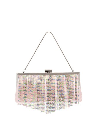 Black & Brown Pattie crystal-fringe shoulder bag metallic PATTIE - Farfetch