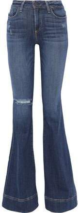 Beautiful Distressed Low-rise Flared Jeans