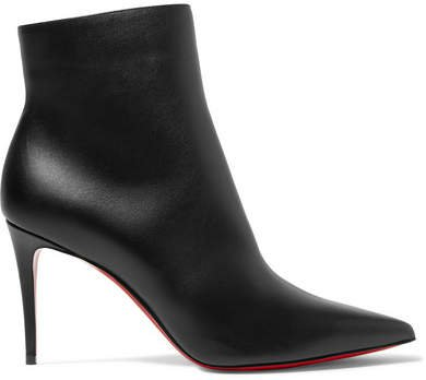 So Kate 85 Leather Ankle Boots - Black