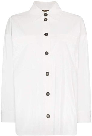 oversized PVC-coated shirt