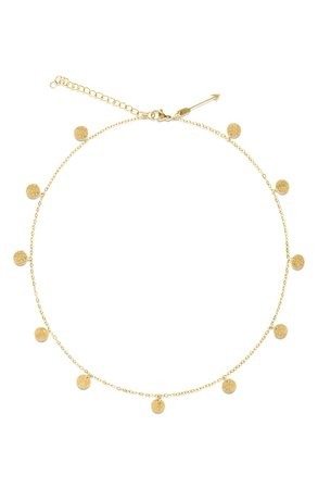 Ellie Vail Sabina Sparkle Disc Necklace | Nordstrom