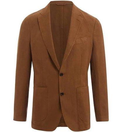brown blazer men