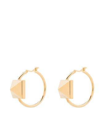 Valentino Garavani Rockstud Hoop Earrings - Farfetch