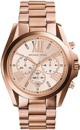 Amazon.com: Michael Kors Roman Numeral Watch MK5503 Rose Gold: Michael Kors: Watches