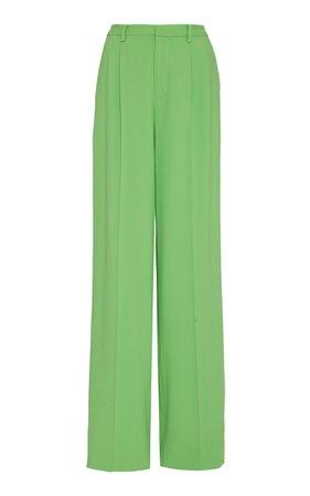 Ralph Lauren Winnifred Wool Crepe High-Rise Wide-Leg Pants