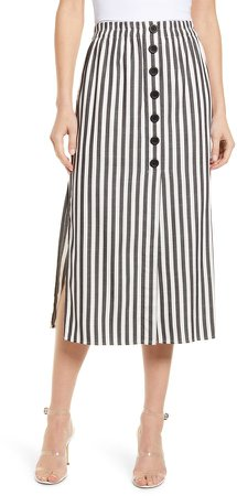 Sandrine High Waist Midi Skirt