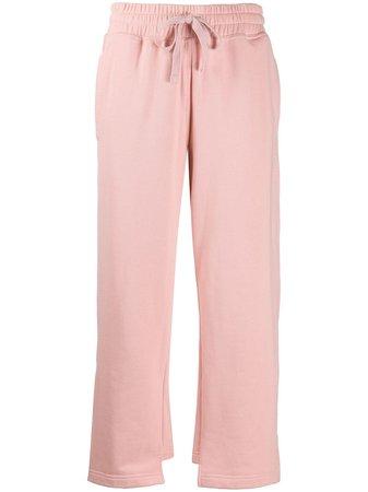Adidas By Stella Mccartney Asymmetric-Hem Cropped Track Pants Ss20 | Farfetch.com