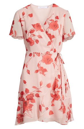 All in Favor Isabella Wrap Dress pink