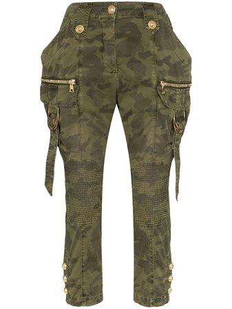 Balmain Pantalon Cargo à Motif Camouflage - Farfetch