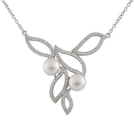 Womens White Cultured Freshwater Pearl Sterling Silver Statement Necklace - JCPenney