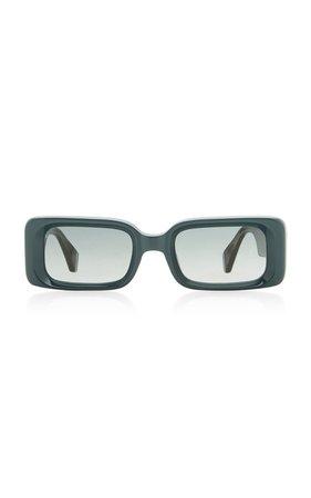 Barbarella Square-Frame Acetate Sunglasses by Kaleos Eyehunters | Moda Operandi
