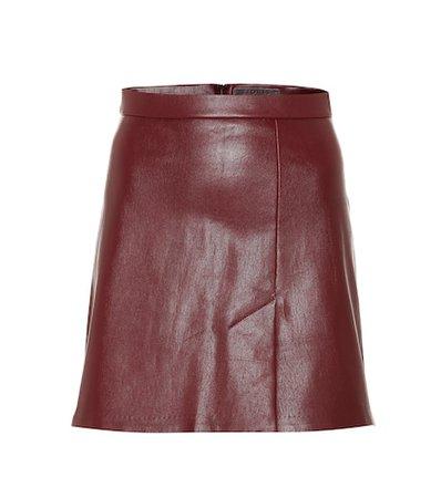 Santa leather miniskirt