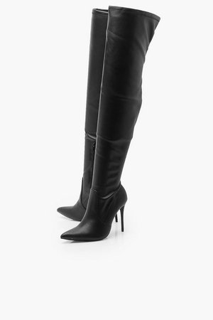 Stiletto Heel Over The Knee Boots | Boohoo