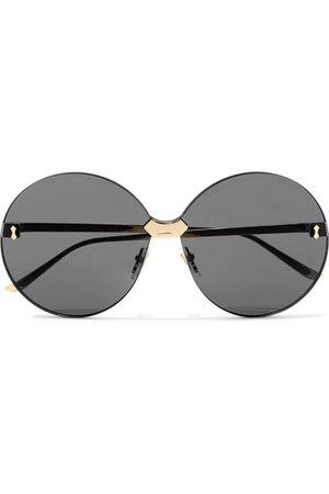 Gucci | Round-frame gold-tone sunglasses | NET-A-PORTER.COM