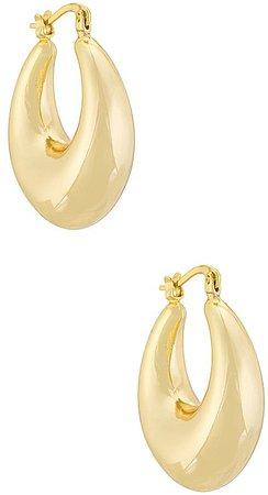 Electric Picks Jewelry Bowery Hoop Earring