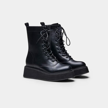 *clipped by @luci-her* LANCE Wave Platform Lace Up Boots   Koi