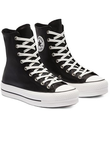 Converse extra high platform chuck taylor all star sneakers in black | ASOS