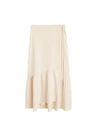 MANGO Soft fabric midi skirt