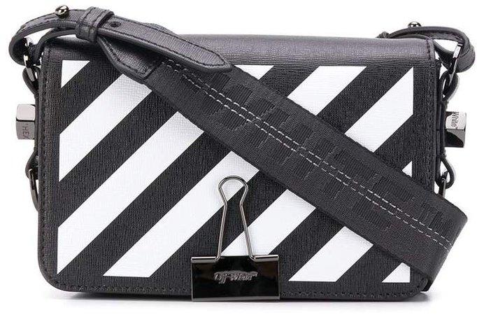 Off White diagonal stripes crossbody bag