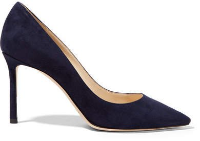Romy 85 Suede Pumps - Navy