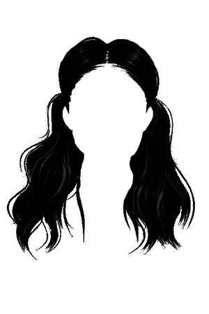black hair edit