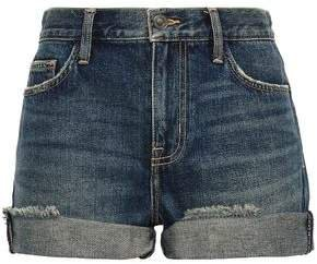 The Boyfriend Rolled Distressed Denim Shorts
