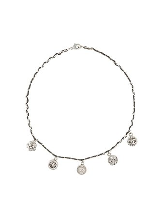 Chanel Pre-Owned Cc Charm Necklace Vintage | Farfetch.com