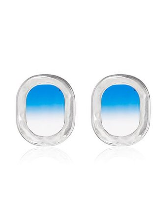 All Blues blue 925 Sterling Silver Airplane Window Earrings