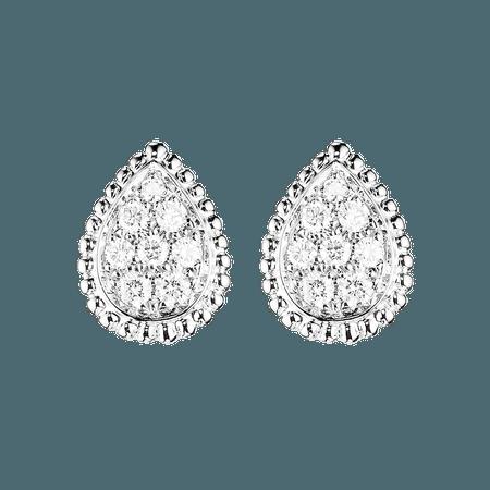Boucheron, SERPENT BOHÈME EAR STUDS S MOTIF Ear studs set with pavé diamonds, in white gold