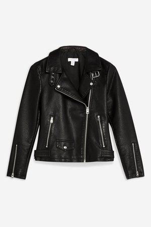 TALL Leather Look Biker Jacket - Jackets & Coats - Clothing - Topshop USA