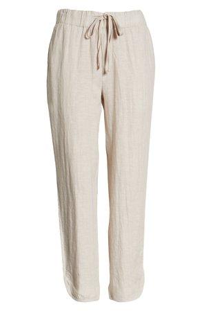 Caslon® Drawstring Linen Jogger Pants   Nordstrom