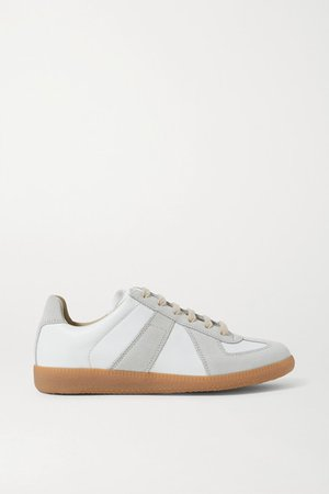 Replica Leather And Suede Sneakers - Off-white