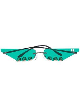 Barbara Bologna Studded Sunglasses ARBBSN1 Green | Farfetch