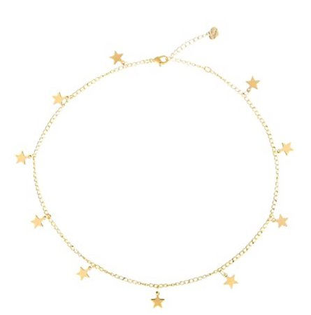 brandy melville gold star charm choker necklace