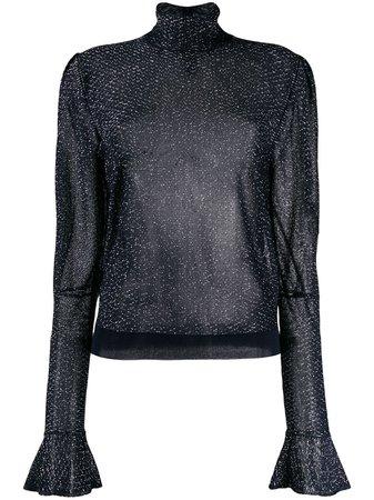 Chloé Metallic Sheer Blouse   Farfetch.com