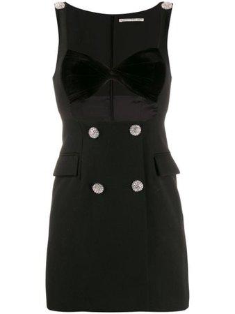 Alessandra Rich Sweetheart Neck Dress | Farfetch.com