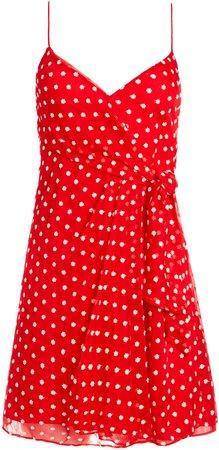 Katie Tie Wrap Mini Dress