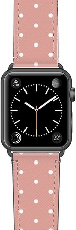 Polka Dots Saffiano Faux Leather Apple Watch(R) Strap