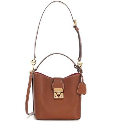 Murphy Small leather bucket bag