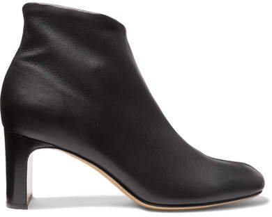 Ellis Leather Ankle Boots - Black
