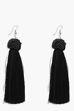 Ella Knot Detail Tassel Earrings