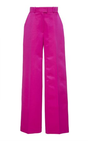 Martin Grant Silk-Blend Wide-Leg Pants