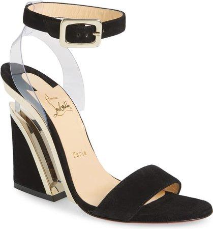Christian Louboutin Levitalo Ankle Strap Wedge Sandal (Women)   Nordstrom