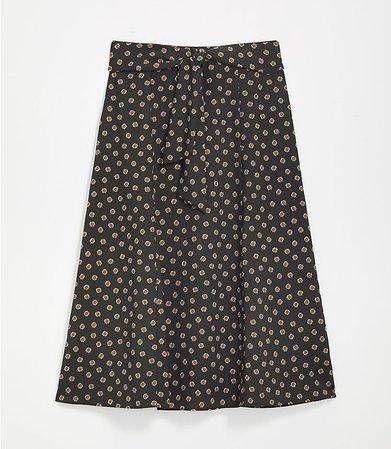 Tie Waist Midi Skirt | LOFT