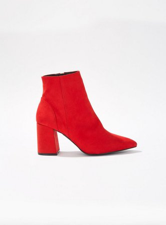 Red ABI Pointed Block Heel Boots - Boots - Shoes - Miss Selfridge