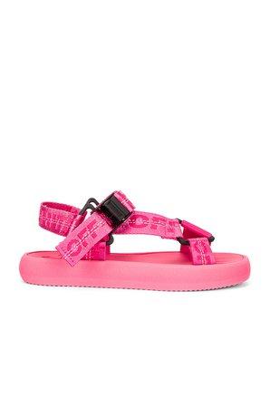 OFF-WHITE Trek Sandal in Pink   REVOLVE