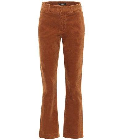 7 For All Mankind - Mid-rise velvet bootcut jeans   Mytheresa