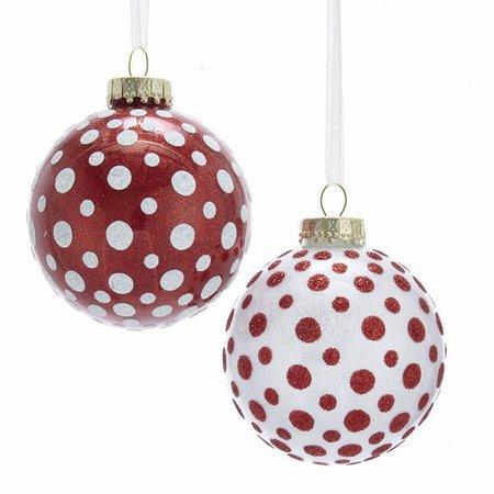 Red/White Polka Dot Ball - Item 100121 | The Christmas Mouse
